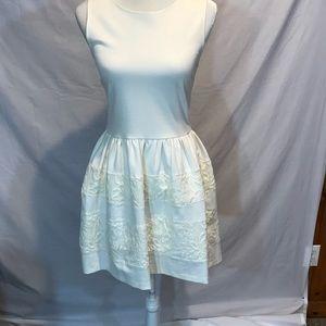 Bar III cream sleeves dress. Size M.
